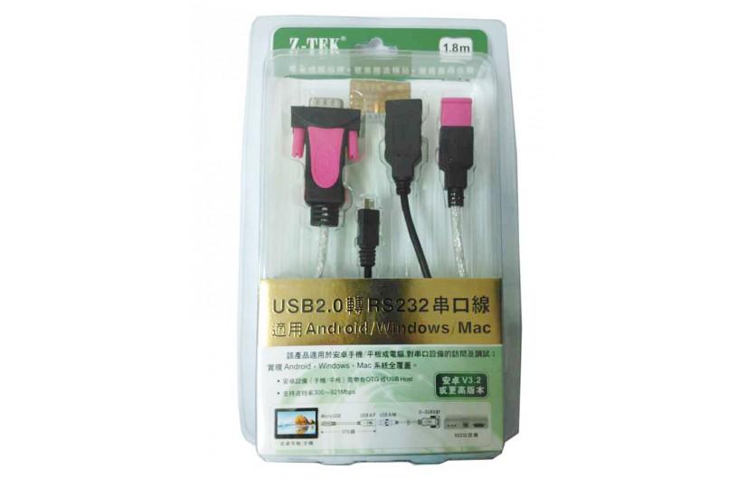 Кабель-переходник Z-TEK с USB 2.0 на RS232
