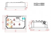 Синусный BLDC-контроллер KLS72501-8080H, 24V-72V, 500A